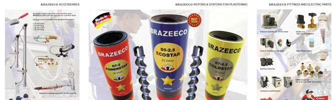 Brazeeco your partner for perfect and economic mortar application and precast solutions